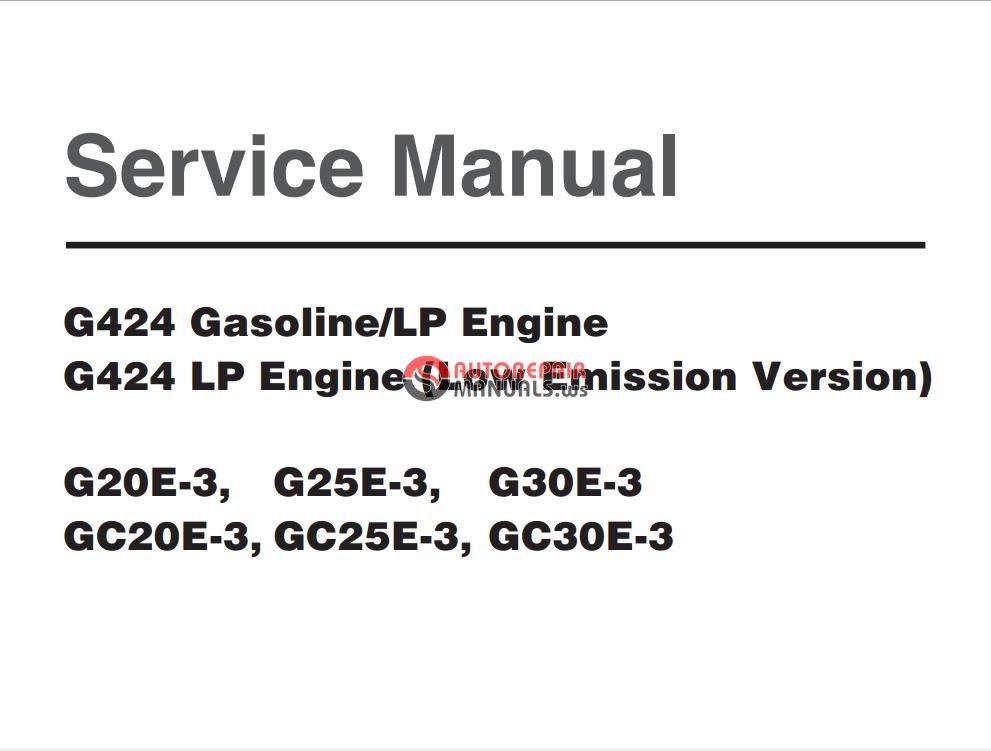 doosan g424 gasoline lp engine g424 lp engine  low emission version  g20e