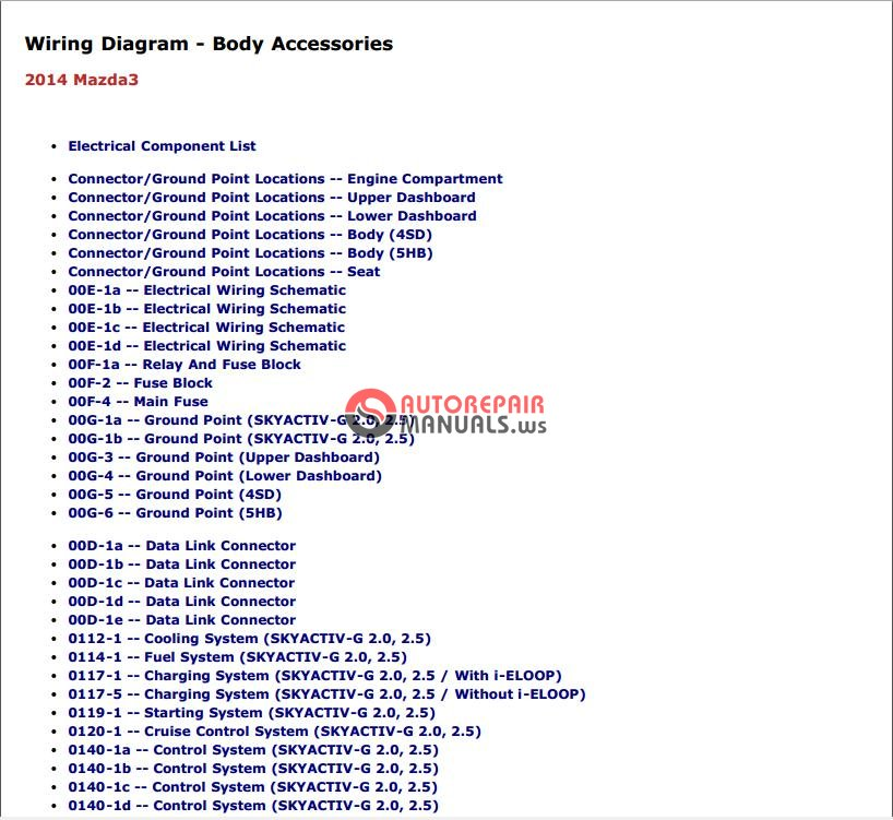 Mazda 3 Mps Wiring Diagram : Mazda workshop repair service manual auto