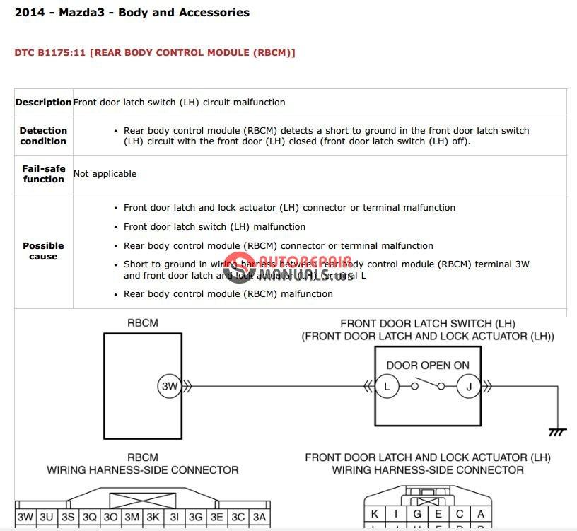 Mazda 3 2014 Service Manual