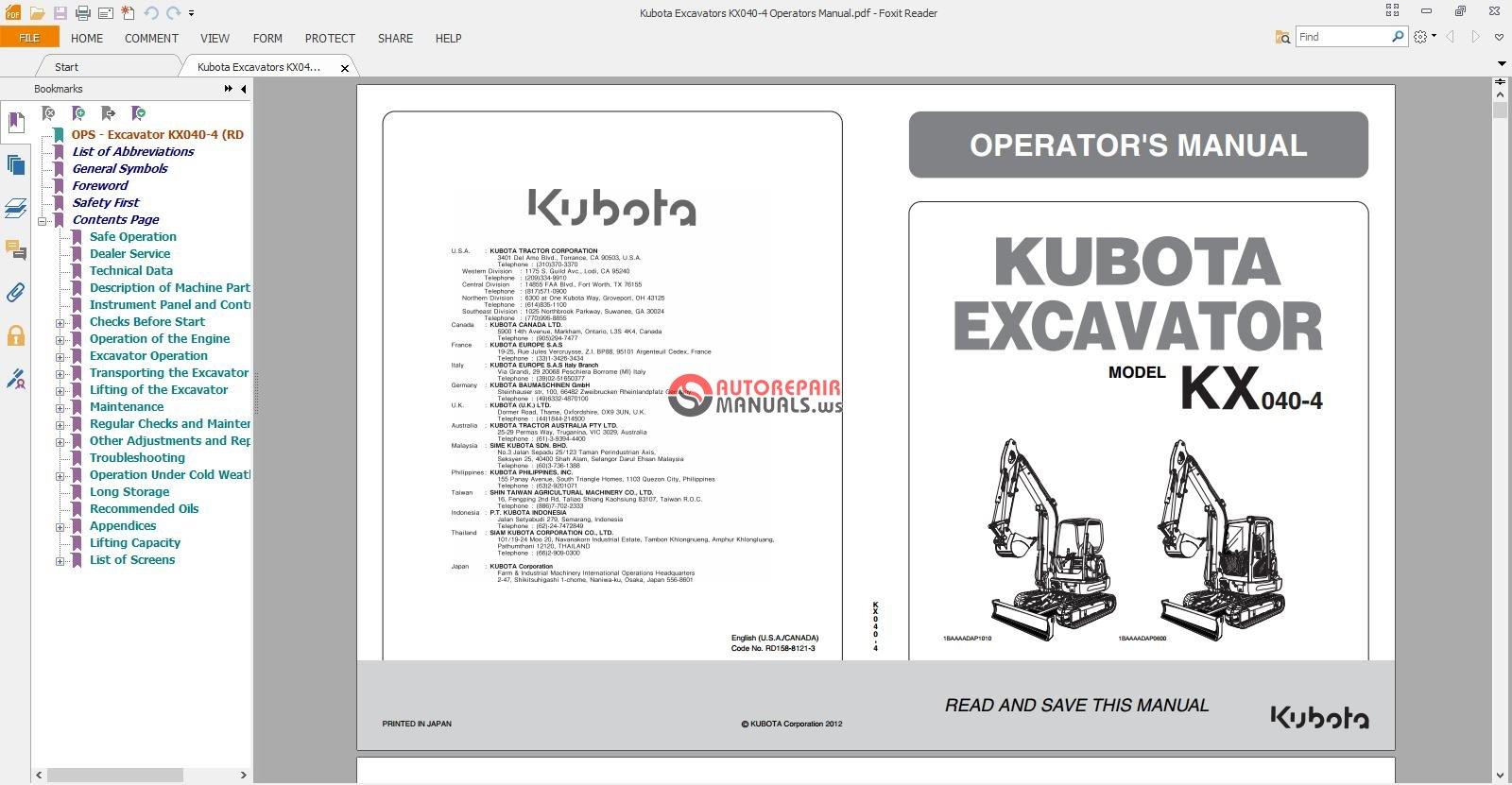 Kubota Kx121 2 manual download