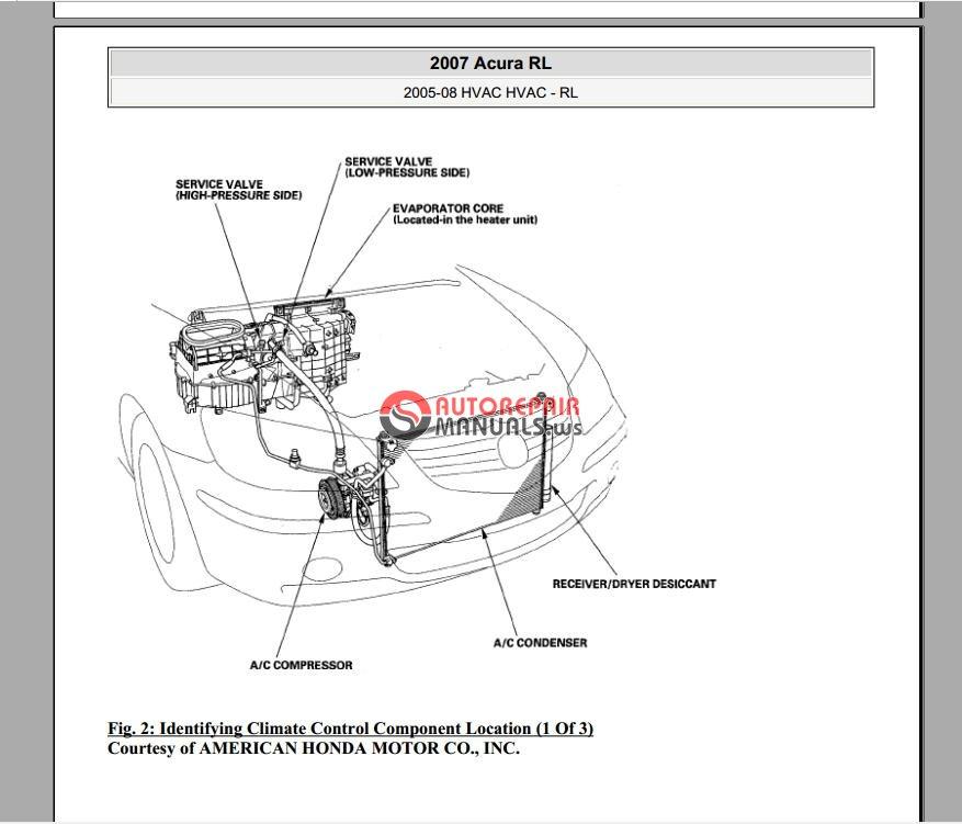Acura RL 2005-2007 Service Manual - HVAC