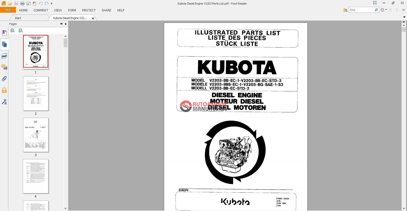 Kubota Diesel Engine V2203 Parts List.jpg