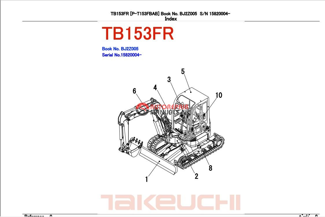 takeuchi excavator tb153 fr parts manual auto repair. Black Bedroom Furniture Sets. Home Design Ideas
