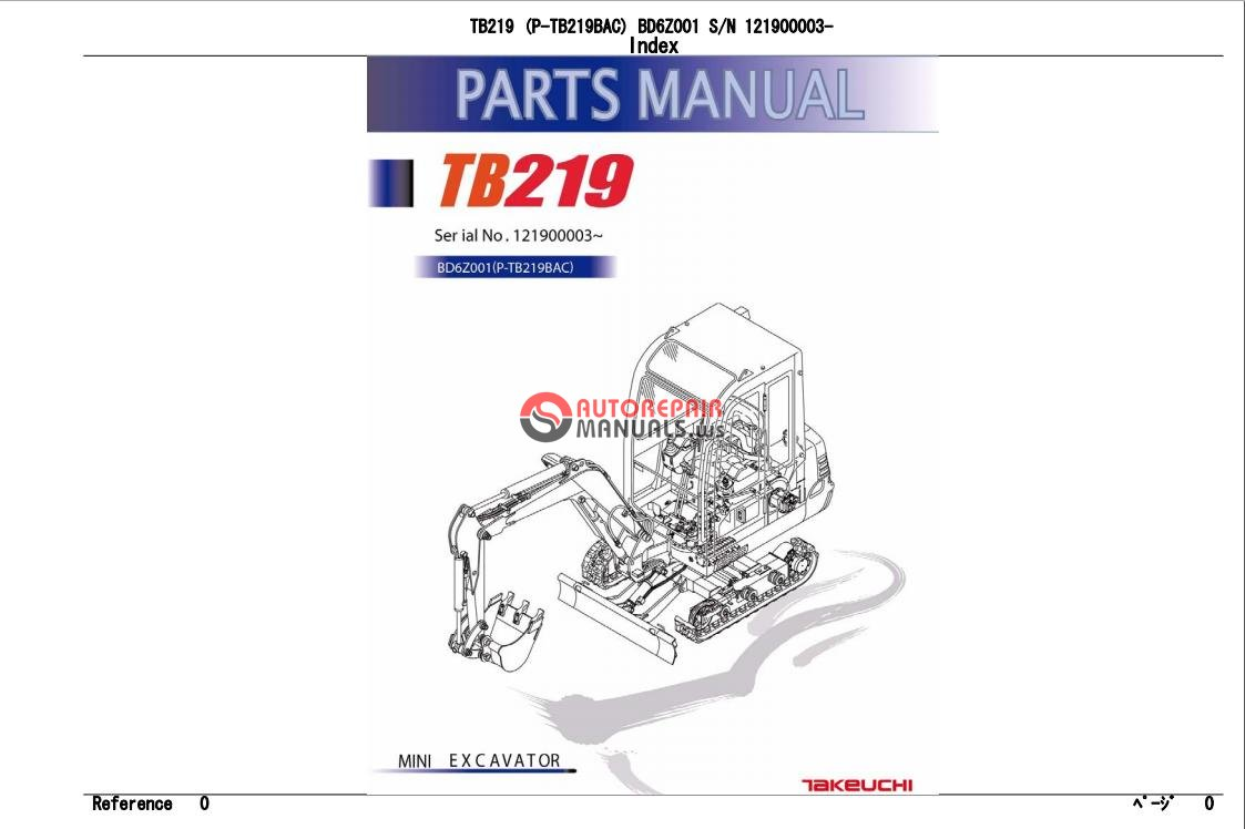 takeuchi excavator tb219 parts manual auto repair manual. Black Bedroom Furniture Sets. Home Design Ideas