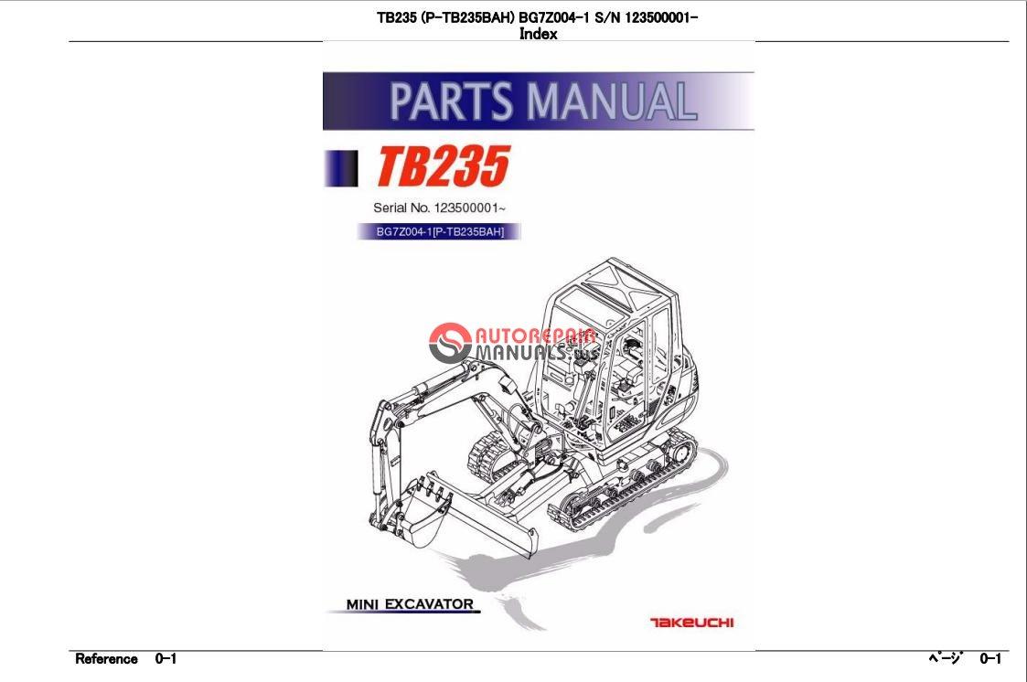 takeuchi excavator tb235 parts manual auto repair manual. Black Bedroom Furniture Sets. Home Design Ideas