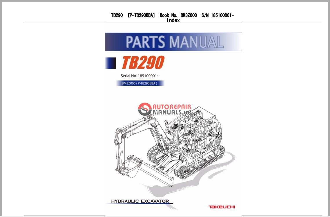TAKEUCHI EXCAVATOR TB290 Parts Manual.jpg
