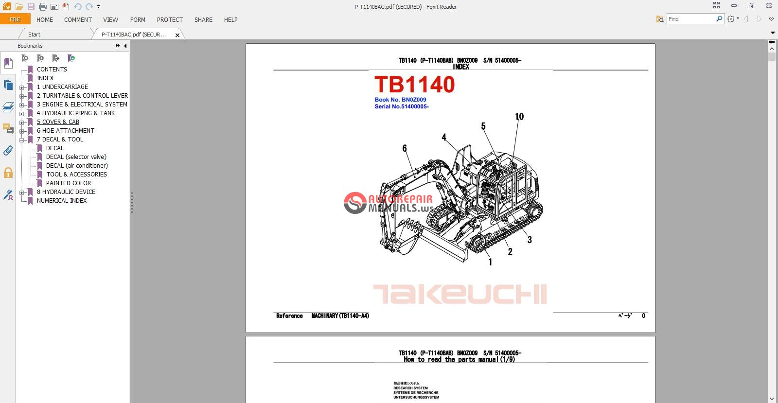 takeuchi excavator tb1140 parts manual auto repair. Black Bedroom Furniture Sets. Home Design Ideas