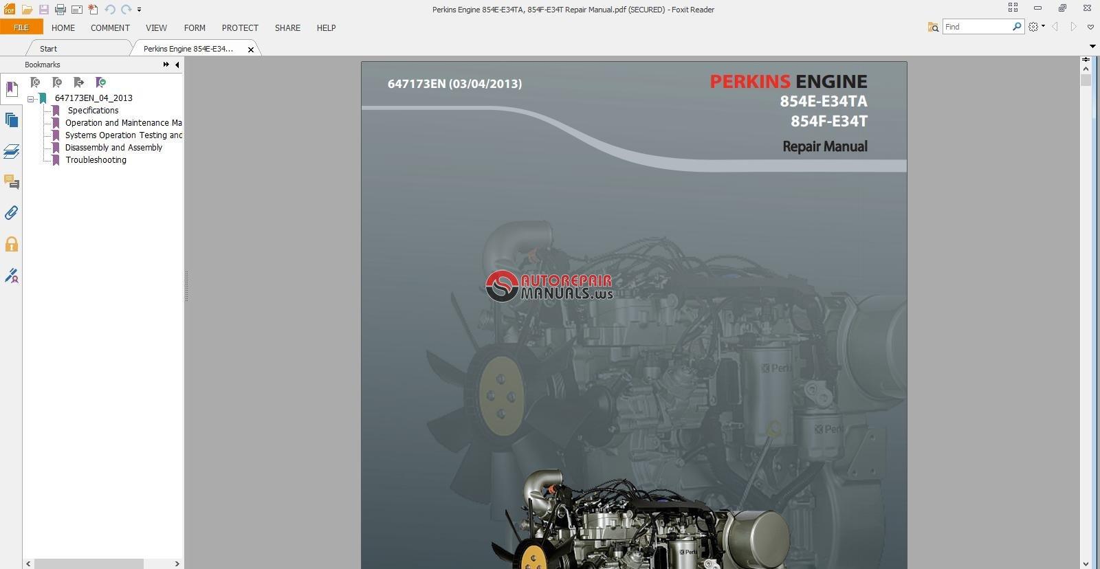 perkins engine 854e