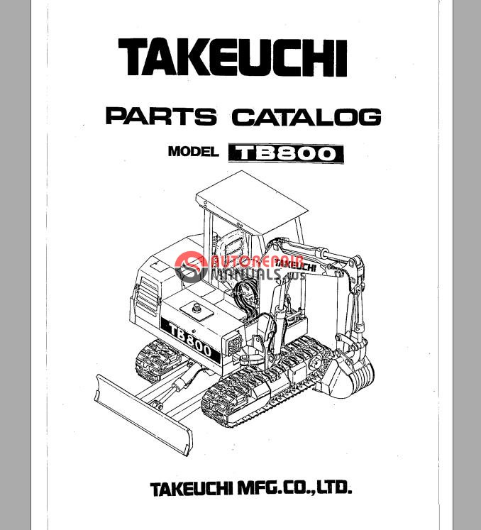 takeuchi tb800 parts manual auto repair manual forum. Black Bedroom Furniture Sets. Home Design Ideas