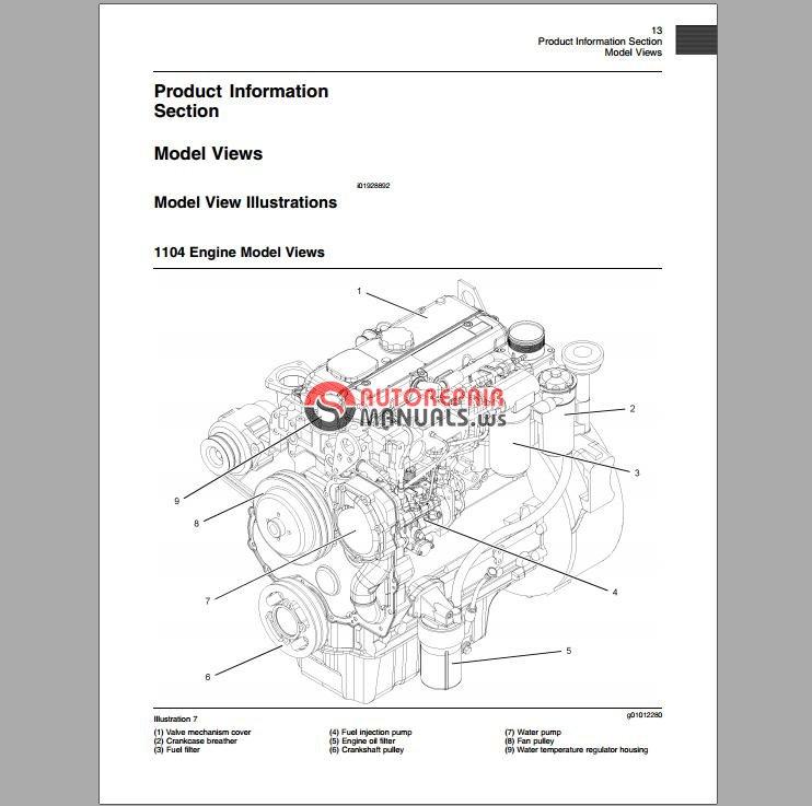 perkins 1100 series models re rf rg rh rj and rk product manual