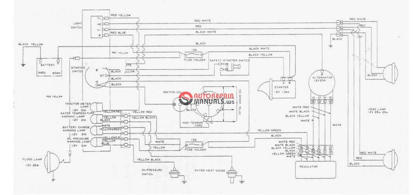 mitsubishi   satoh tractor bison s650wiring diagram