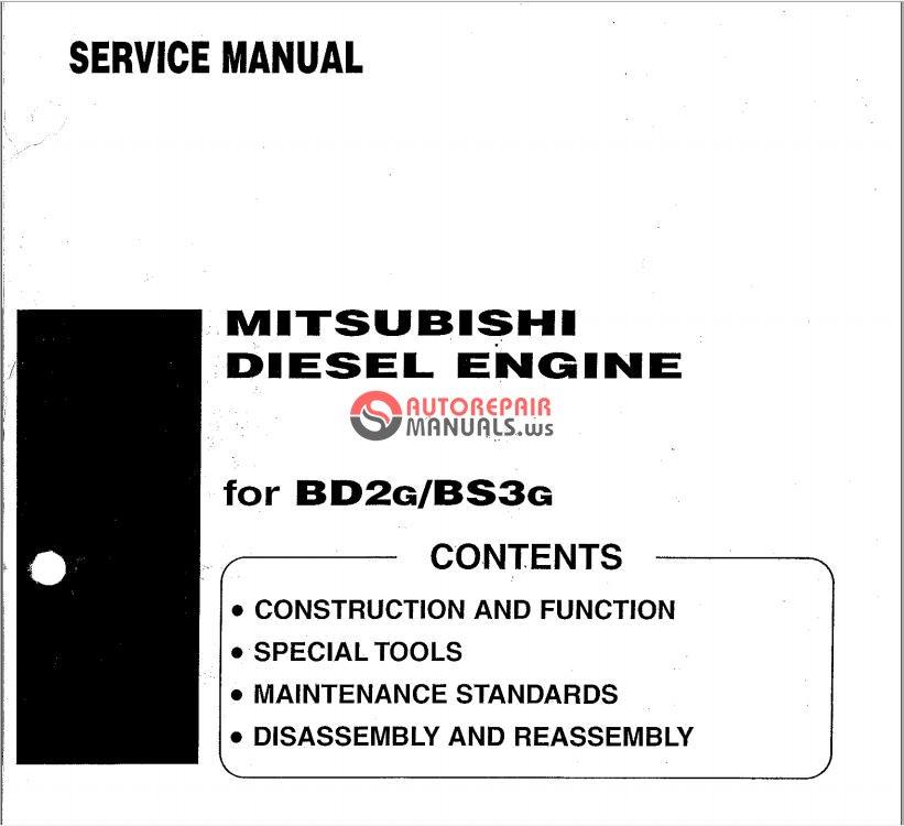 mitsubishi tractor bd2g bs3g  bulldozer   diesel engine s4e2  service manual