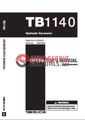 takeuchi tb1140 all operator manual auto repair manual. Black Bedroom Furniture Sets. Home Design Ideas