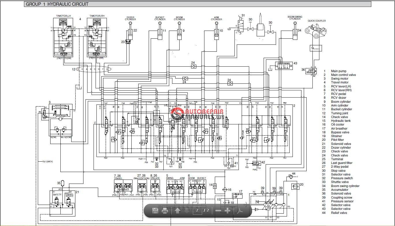 hyundai heavy equipment 2014 service manuals