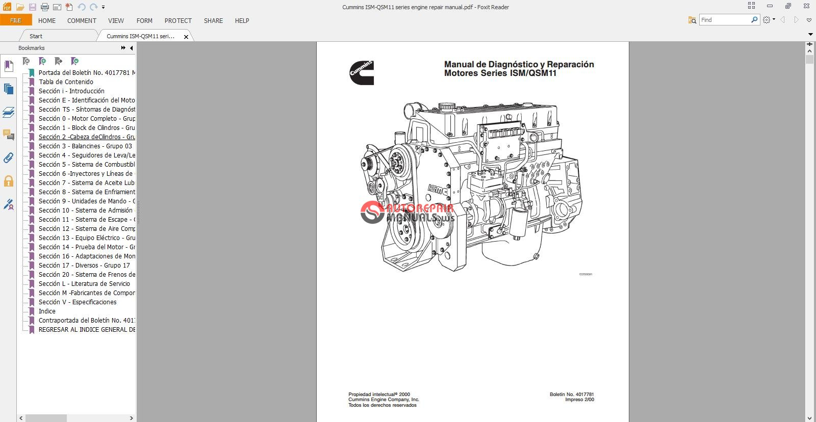 Download Cummins Ism-qsm11 Series Engine Repair Manual