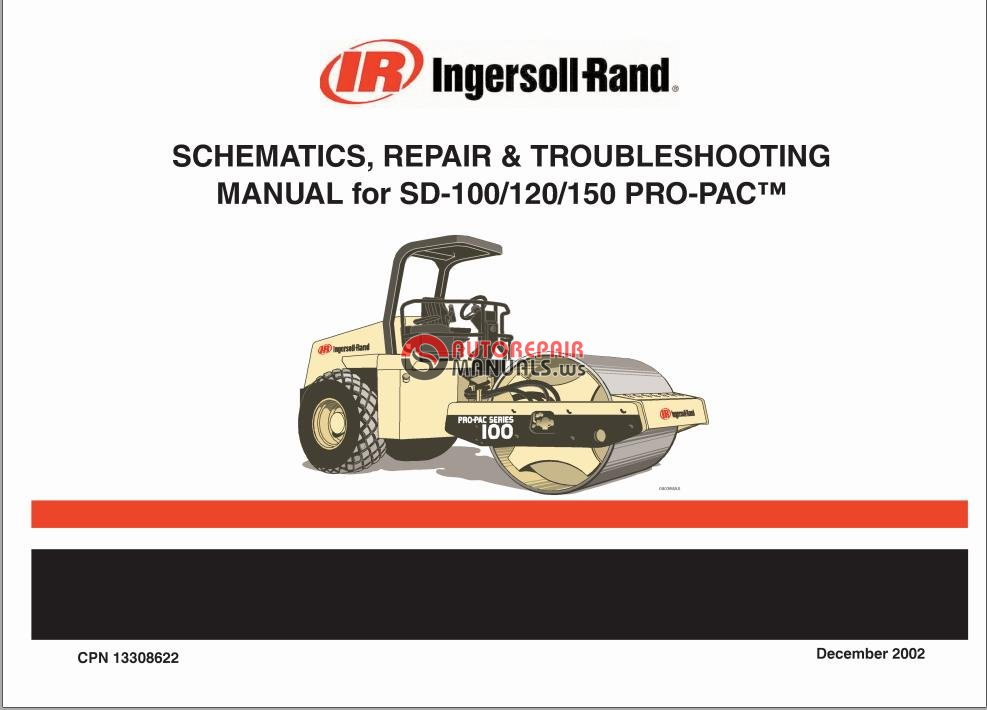 ingersoll rand sd 100 120 150 pro pac schematic repair and rh autorepairmanuals ws Ingersoll Rand SD100D Wiring Schematic Ingersoll Rand SD100D Parts