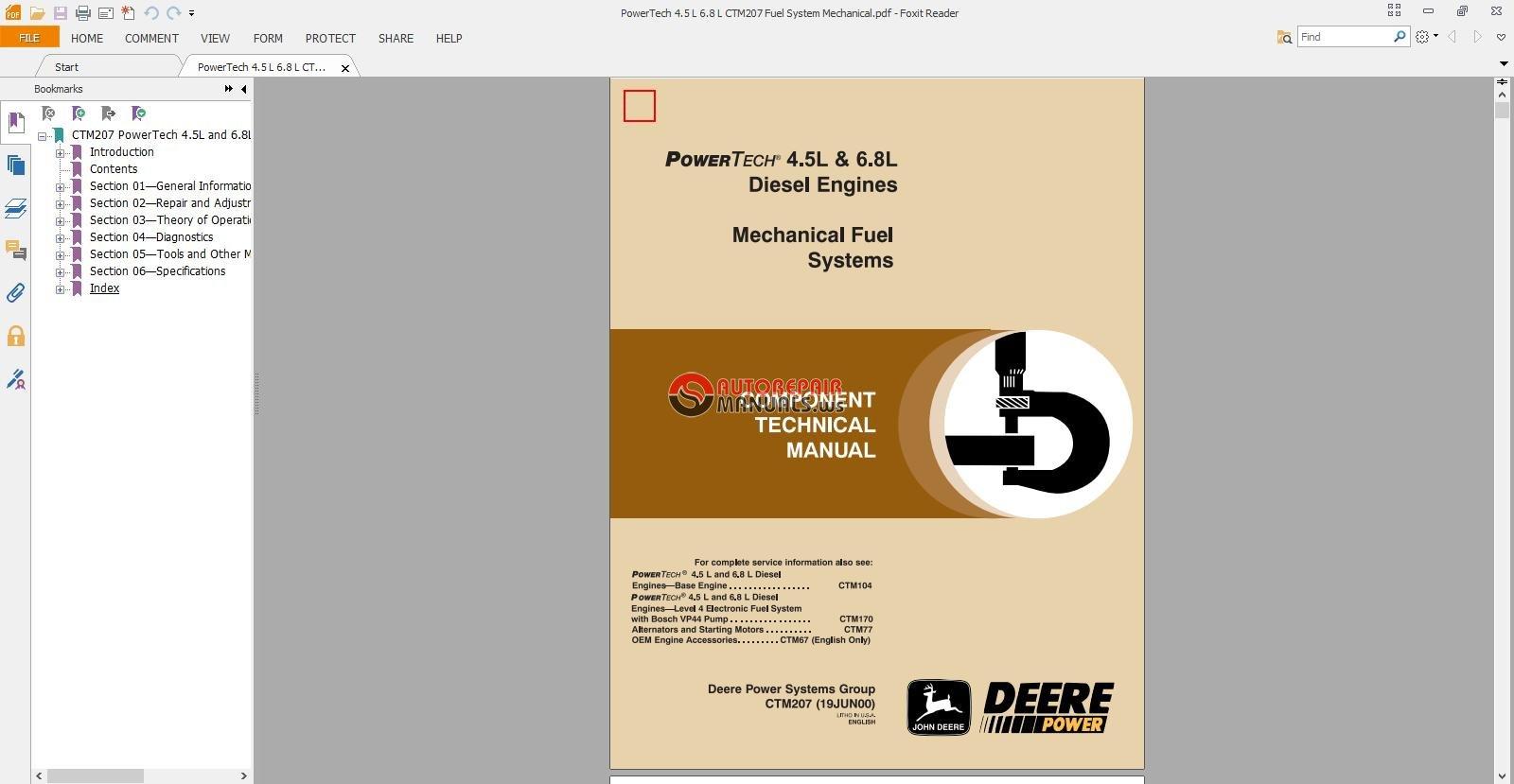 john deere 8330 service manual