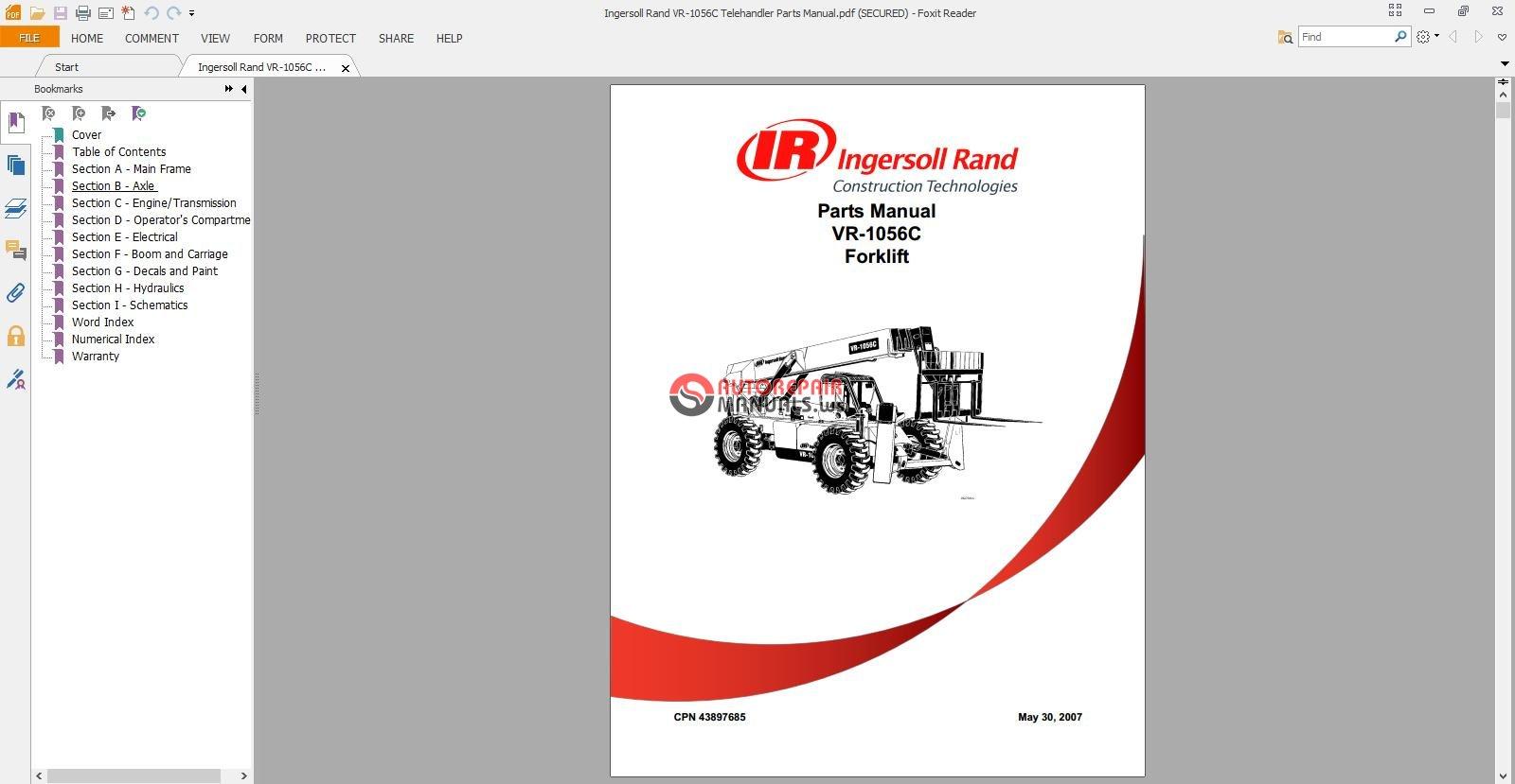 Ingersoll Rand VR-1056C Telehandler Parts Manual.jpg