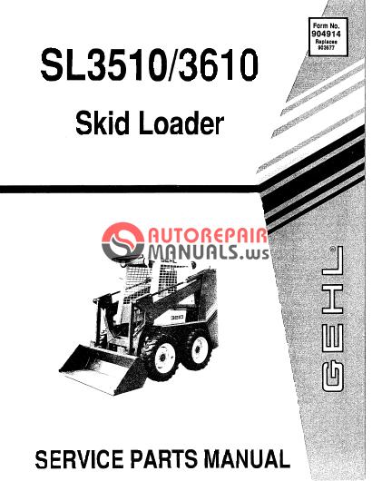 3510 gehl Service manual