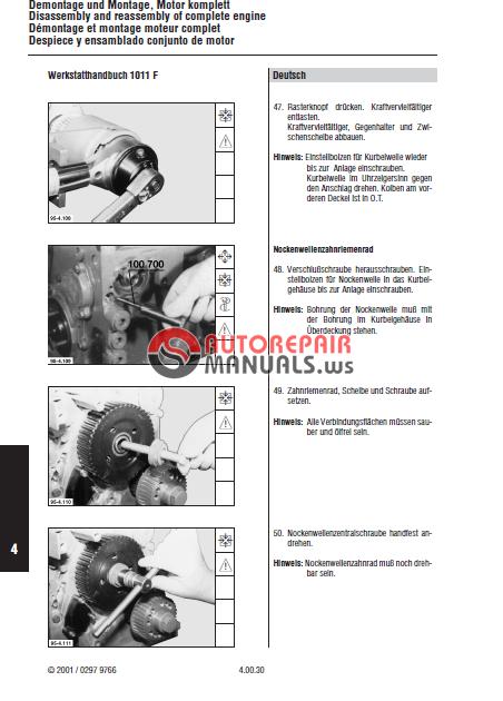 deutz workshop manual 1011f