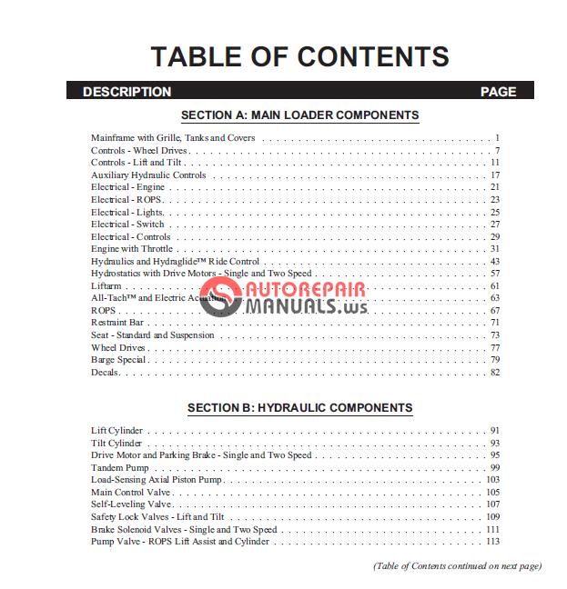 Gehl Sl 7800 Parts Manual
