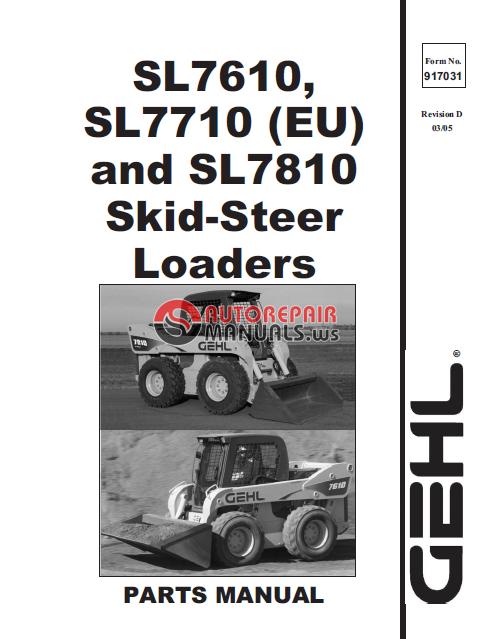 Gehl Sl 7710 Parts Manual