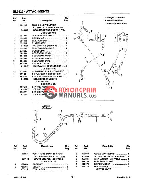 Gehlsl 6620 Parts Manual