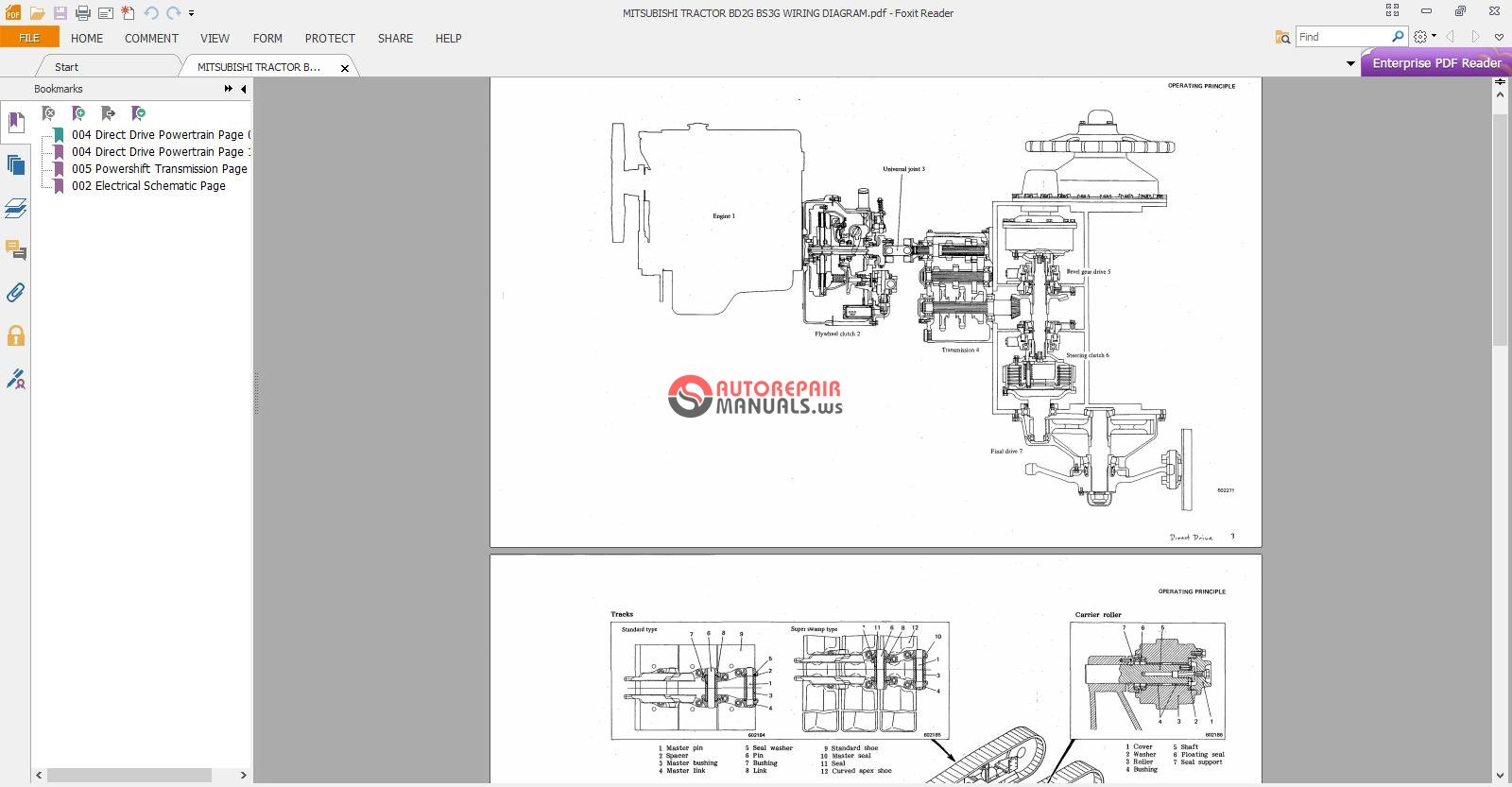 MITSUBISHI TRACTOR BD2G BS3G WIRING DIAGRAM Auto Repair