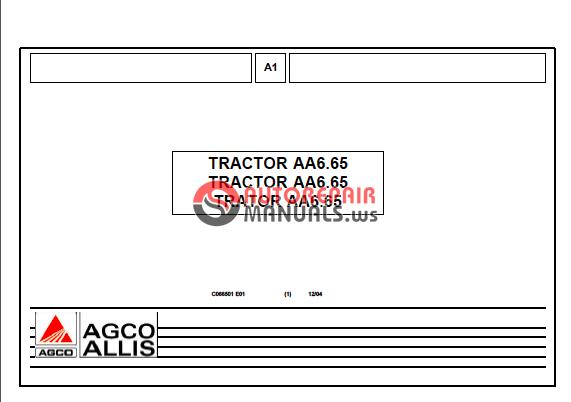 Tracsa Tractor Aa6 65 Parts Manual