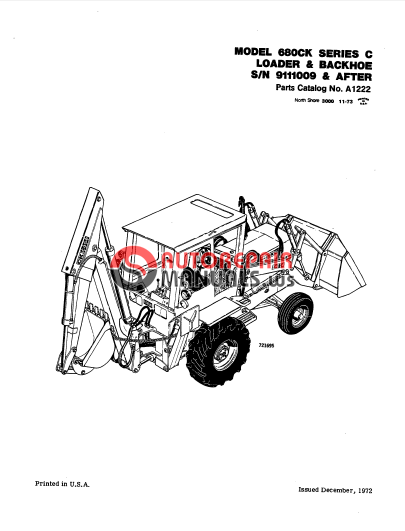 case 680 ck series backhoe parts manual