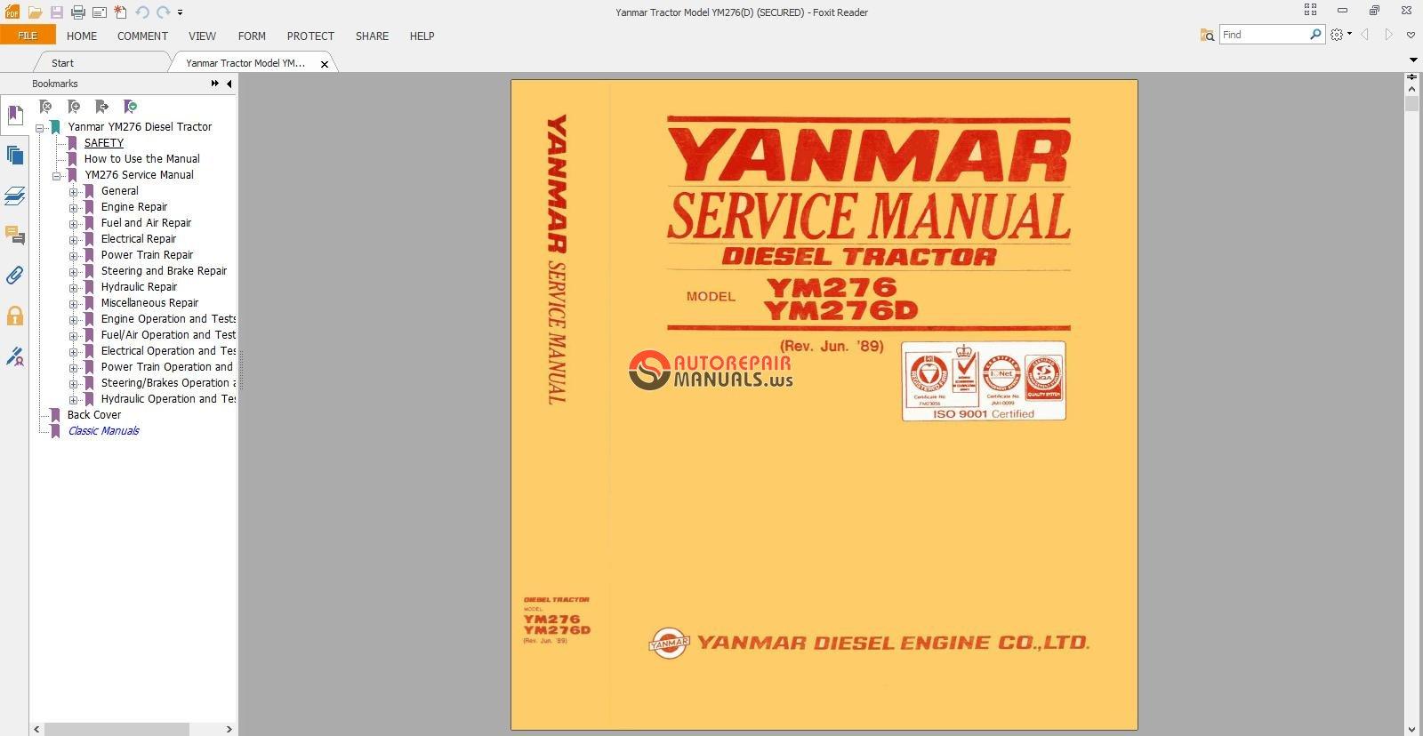 yanmar vio17 service manual