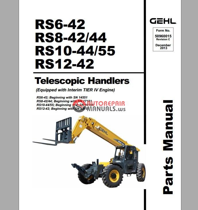 Gehl telehandler service manual 544a Gehl 235 Parts TractorTool