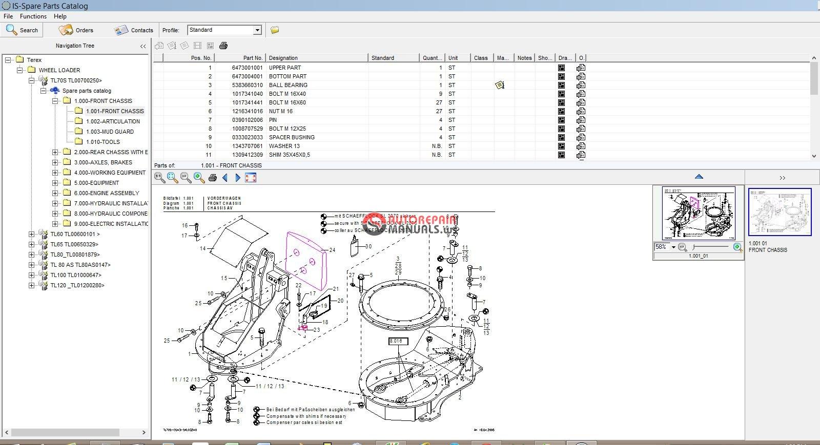 terex wheel loader epc tl60 tl120 auto repair manual. Black Bedroom Furniture Sets. Home Design Ideas