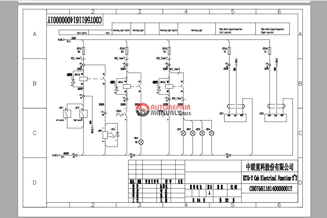 zoomlion rt75-2 lower rough terrain crane electric shematic_3 jpg