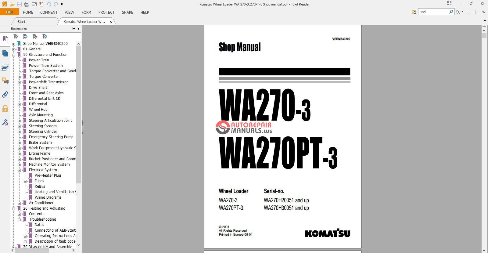 Komatsu Wheel Loader WA 270-3,270PT-3 Shop manual_1.jpg ...
