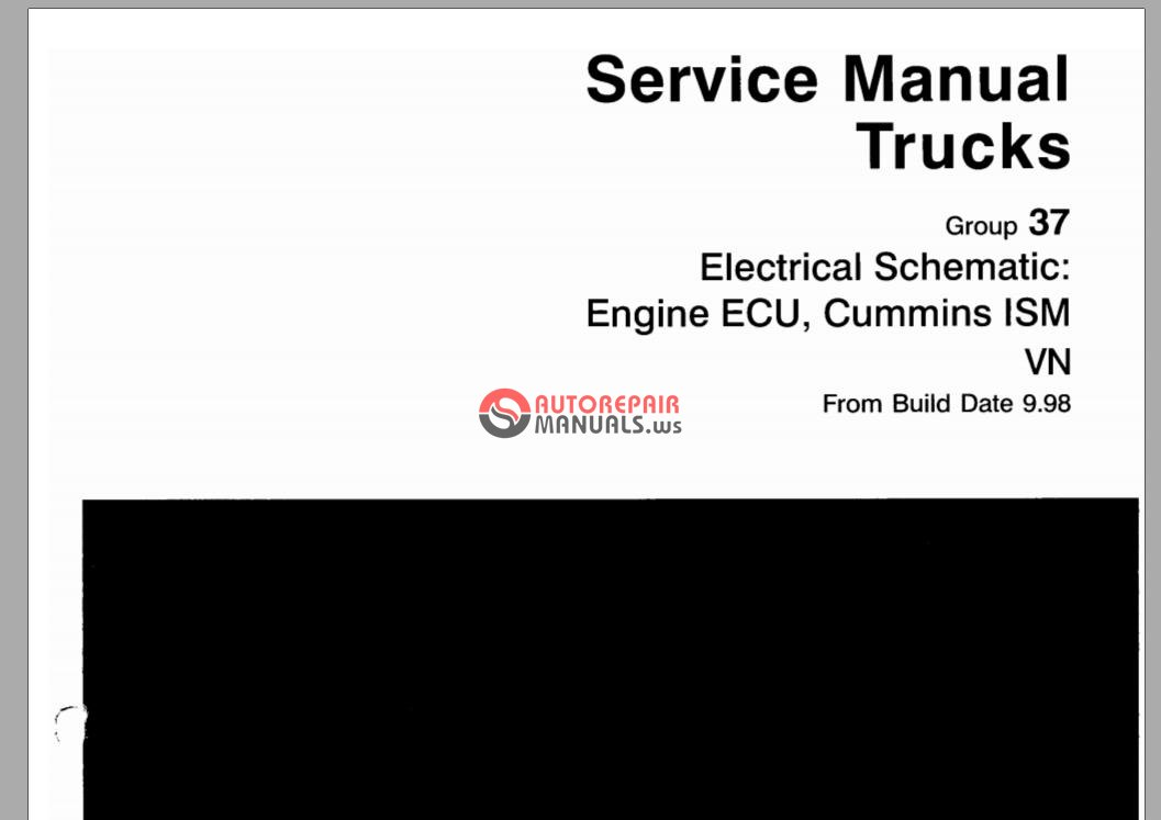volvo service manual trucks g37 electrical schematic