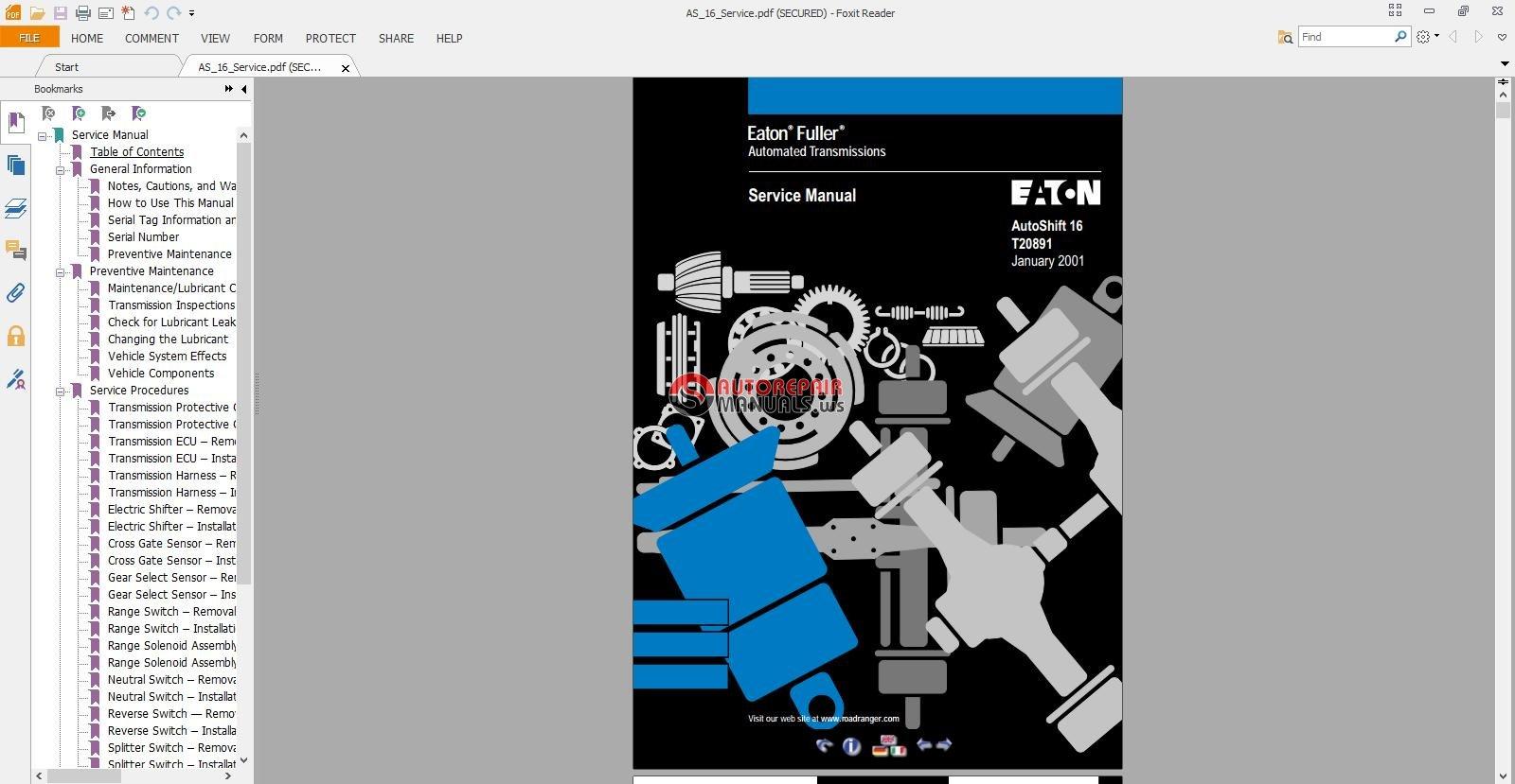 eaton fuller transmission service manual
