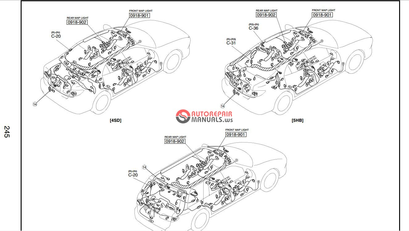 mazda 3 headlight replacement diagram