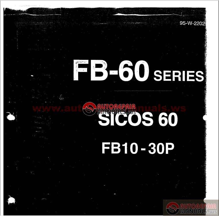 nissan electric forklift service manuals