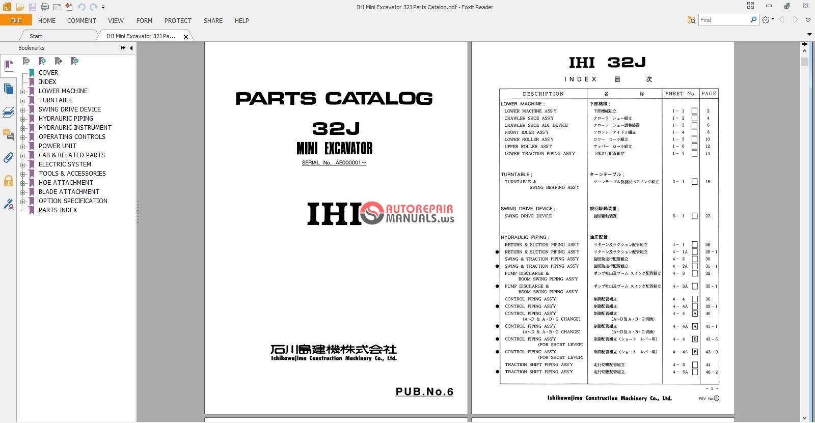 ihi mini excavator 32j parts catalog auto repair manual forum rh autorepairmanuals ws Mini Excavator 35 IHI IHI Mini Excavator Buckets