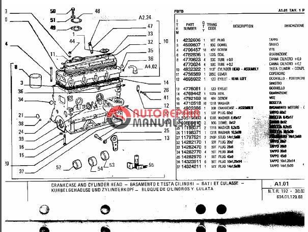 Fiat Allis 8b Dozer Parts : Fiat allis backhoe loader fb b parts manual auto repair