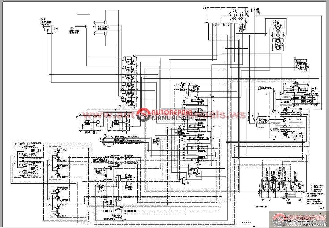o u0026k rh23 5 crawler excavator hydraulics schematics and