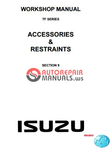 isuzu tf series accessories restraints workshop manual. Black Bedroom Furniture Sets. Home Design Ideas