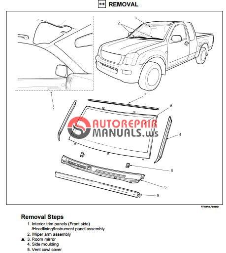 isuzu tf series cab workshop manual