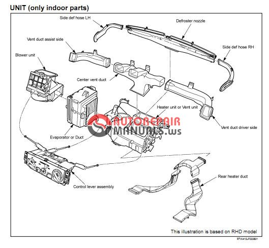 isuzu tf series heating and air conditioning workshop manual
