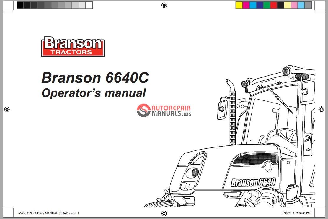 branson tractors 6640c operator u2019s manual