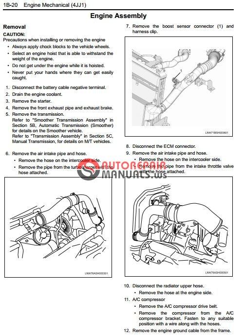 isuzu service manual 4jj1x user guide manual that easy to read u2022 rh wowomg co 2017 Isuzu Trooper 1995 Isuzu Trooper
