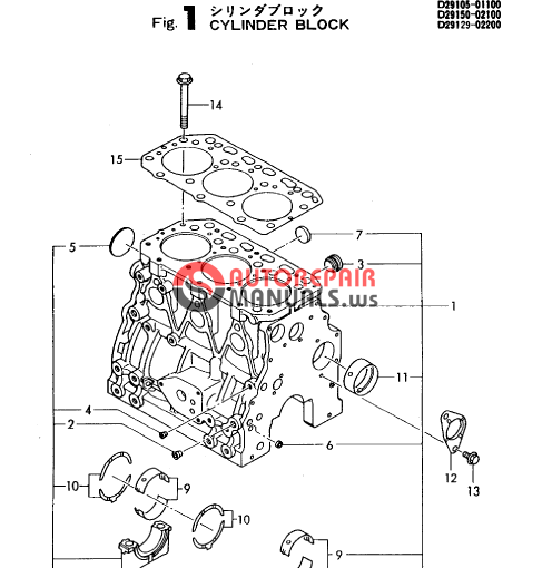 yanmar 6lya stp parts manual