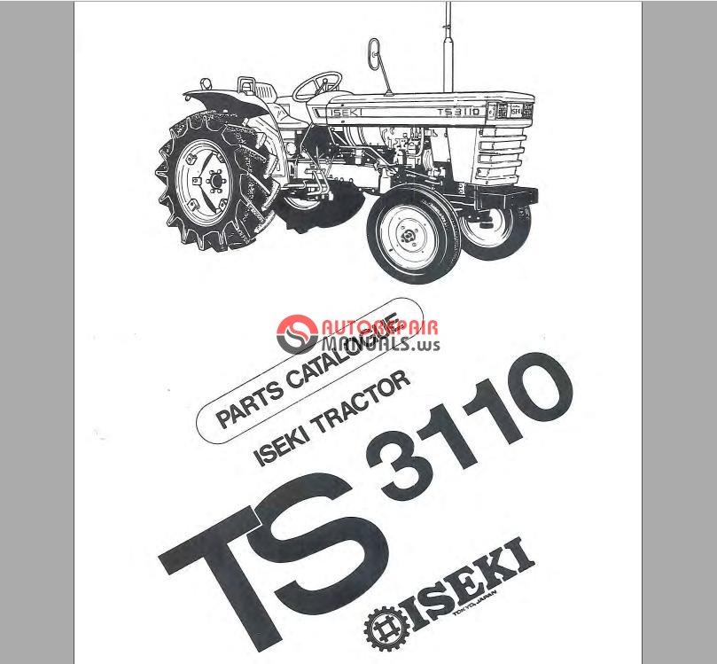 Iseki Ts3110 Parts Manual