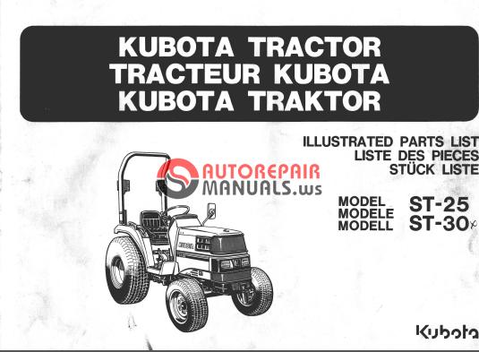 kubota tractor workshop manual
